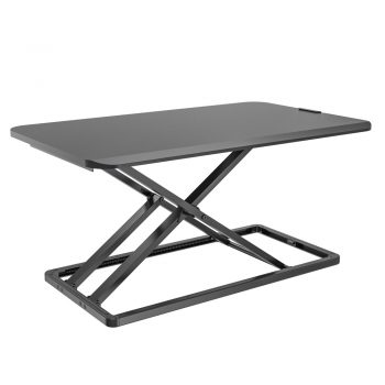 VM-SD04M Black Wooden Steel Foldable Sit Standing Desk VM-SD04