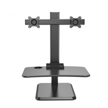 Sit To Stand Gas Spring Computer Desk With Dual Monitor Mount VM-WS18 K-08